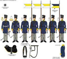 Titre de l'image 1er Escadron du 1er Régiment de Cavalerie Landwehr de Silésie