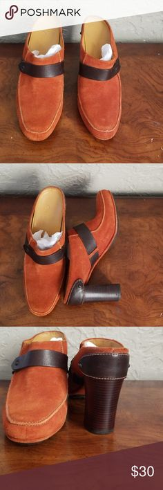 8538a6d0f90 Shop Women s Cole Haan Orange Brown size 6 Mules   Clogs at a discounted  price at Poshmark. Description  Cole Haam Heels Mules size 6 See picture  for some ...