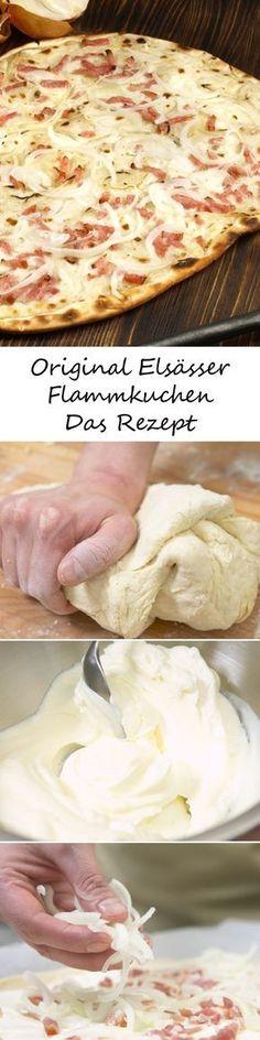 Ein knusprig-krosser Boden - getoppt von Zwiebeln, Schinken und Schmand - so schmeckt das französische Original. HIER gibt's das Rezept für einen leckeren Elsässer Flammkuchen >>>