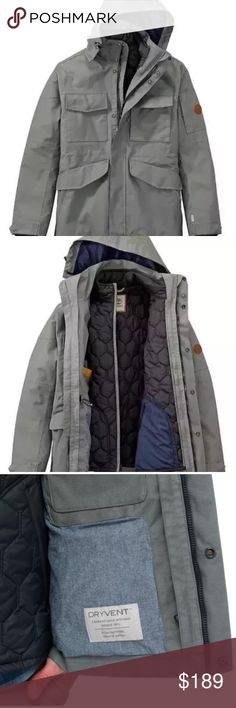 c6490bb1 TIMBERLAND MEN'S 3-IN-1 WATERPROOF FIELD JACEKET The military inspired  styling and clean