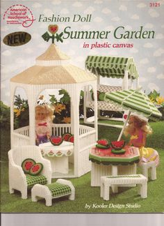 Plastic Canvas - Fashion Doll Summer Garden  - Pattern Book - PDF Form