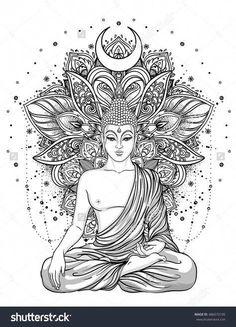 gorgeous tattoos #Mandalatattoo Buddha Tattoo Design, Buddha Tattoos, Body Art Tattoos, Tattoo Drawings, Sleeve Tattoos, Hand Tattoos, Mandala Art, Mandala Tattoo Design, Tattoo Designs