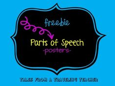 Simple {FREE} posters that explain parts of speech. Color coded to make clear. Also included are small example mini-posters.  *Updated June 2014 with Interjections, Prepositions, Conjunctions, Articles and Homonyms. I also have 2 border choices: one border for all words OR one border for grammar words and one border for Antonyms, Synonyms, Homophones and Homonyms.