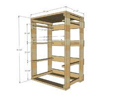 laundry basket shelf with wicker baskets or add doors ...
