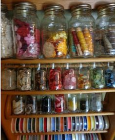 CD repurposed for ribbon and craft storage