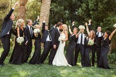 Wedding Party  Kristen And Anthony Ravenscroft Estate in Montecito, CA.