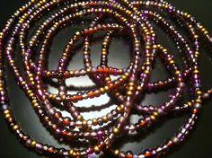 VELVET Set of 2 African Waist Beads by NeaubianEsssence on Etsy, $18.00