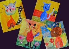 """Naschoolse teken/schilderles op basisschool """"De Regenboog"""" in Waddinxveen met een klein groepje leerlingen van 5, 6, 7 en 8 jaar."""