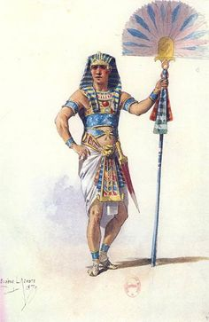costume design from early version of Aïda