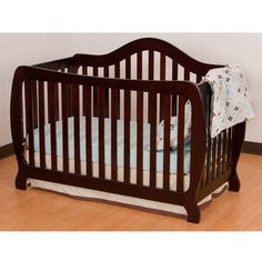 Storkcraft Monza I Fixed Side Convertible Crib, Cherry