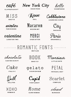 Typographie - Le blog du printable