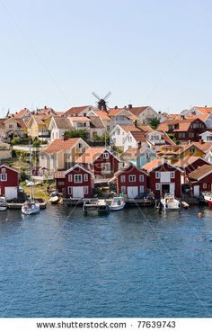 Fiskebackskil an old fishing community on the Swedish west coast