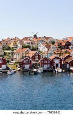 Fiskebackskil an old fishing community on the Swedish west coast