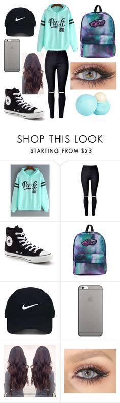 """""""Casual Outfit♡"""" by nsmith240 ❤ liked on Polyvore featuring WithChic, Converse, Vans, Nike Golf, Native Union and River Island"""