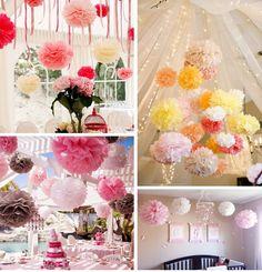 """10pcs 30cm ( 12 """" ) tissus Fleurs en papier Boule Pom Poms Wedding Party Decor Craft festivals décorations 9 couleurs dans Accessoires de fêtes et d'évènement de Maison & Jardin sur AliExpress.com   Alibaba Group"""