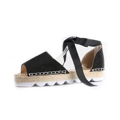02d81f5d36df33 Women s Sandals ·  EBay  2017 Summer Fashion Open Toe Leather Sandals Low  Heel Cover Lace Up Ankle