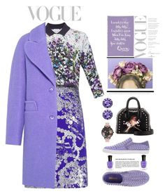 """lavender _ 3"" by bluespace ❤ liked on Polyvore featuring Ted Baker, Dries Van Noten, Just Cavalli, STELLA McCARTNEY, Olivia Burton, Deborah Lippmann, Crown and Glory, Color My Life and Carven"