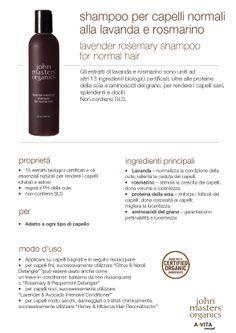 Shampoo per capelli normali/fini alla lavanda e rosmarino