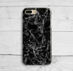 Black White Marble Case iPhone 7 Plus iPhone SE by iPhoneCaseUA