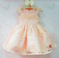 Vestido de Festa Infantil Bordado Luxo Petit Cherie