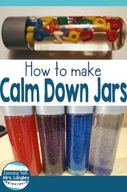 This calm down bottle recipe is so easy and can be used with or without glitter. It works however you choose to make them! Try a fun galaxy look or make a simple glitter timer. Glitter glue, water and food coloring and you are good to go! I use these as a calm down strategy in kindergarten or a traditional time out timer.