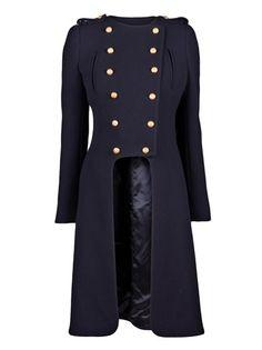 Alexander McQueen Cutaway Military Coat