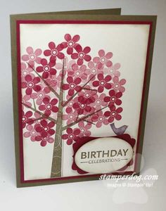 Stampin Up, Seasons of Friendship stamp set, Great CAS class card