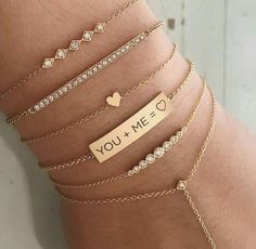 Solid Rose Gold MRS necklace with chain 17 total - Fine Jewelry Ideas Dainty Bracelets, Dainty Jewelry, Ankle Bracelets, Cute Jewelry, Jewelry Bracelets, Jewelry Accessories, Fashion Accessories, Jewelry Design, Women Jewelry