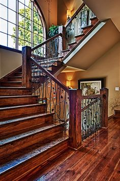 Nice stairs with elegant newels