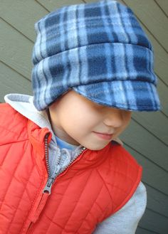 Winter Hat for Boy - Boy Fleece Newsboy Hat - 12mo. - Teen - MADE TO ORDER. $18.00, via Etsy.