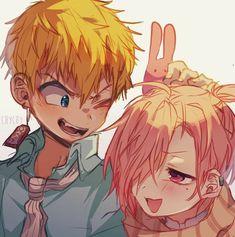 My babies 🎀 Mitsuba Sousuke + Minamoto Kou 🎀 I got it from ig don't know original link srry Manga Anime, Fanarts Anime, Otaku Anime, Anime Guys, Anime Characters, Estilo Anime, Anime Kawaii, Killua, Manga Games