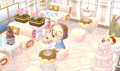 my mayor stopped in the town cafe for some ice cream♡