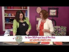 ▶ Crayon-and-Stencil Resist: Scrapbook Soup Segment: - YouTube