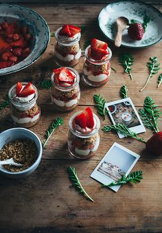 Strawberry cheesecake jars