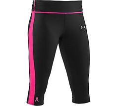 For Breast Cancer awareness ... and they're super cute running capris :)   Under Armour® Women's PIP Escape Fitted Capri   Scheels