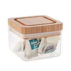 Canister with Bamboo Lid 600ml