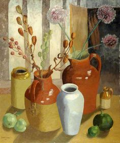 Margaret's Pots by Cedric Morris. Held in the Glynn Vivian Art Gallery. Art Floral, Artistic Photography, Fine Art Photography, Spa Art, Modern Art, Contemporary Art, Your Paintings, Flower Paintings, Morris