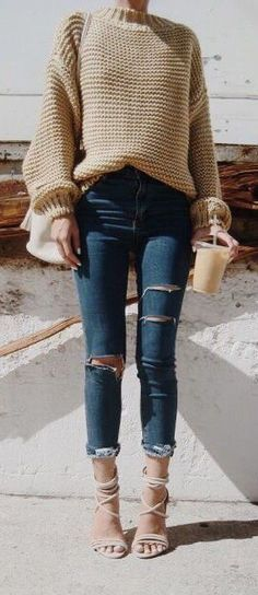 #fall #outfits / heavy knit