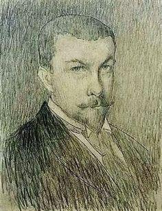 Henri Le Sidaner (French 1862–1939) [Impressionism] Self-portrait, Musée de Petiet de Limoux, France.