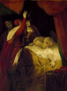 Studio of Sir Joshua Reynolds. The death of Cardinal Beaufort. Henry VI, Part 2. Oil on board, ca. 1790. Folger Shakespeare Library.