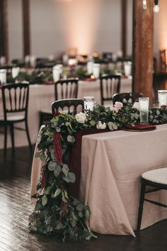 Marsala/burgundy color combos for 2019 fall weddings---burgundy table runner with greenery, fall wedding centerpieces. - - wedding table setting Lovely Top Marsala/burgundy color combos for 2019 fall weddings---burgundy table runne. Fall Wedding Centerpieces, Wedding Table Centerpieces, Wedding Decorations, Fall Wedding Table Decor, Wedding Bouquets, Popular Wedding Colors, Neutral Wedding Colors, Trendy Wedding, Elegant Wedding