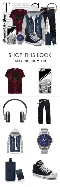 """001 Dating Cute Halloween-Girl"" by berry2206 on Polyvore featuring JEM, Casetify, Master & Dynamic, Citizen, 21 Men, Converse, men's fashion, menswear, DateNight und casualoutfit"