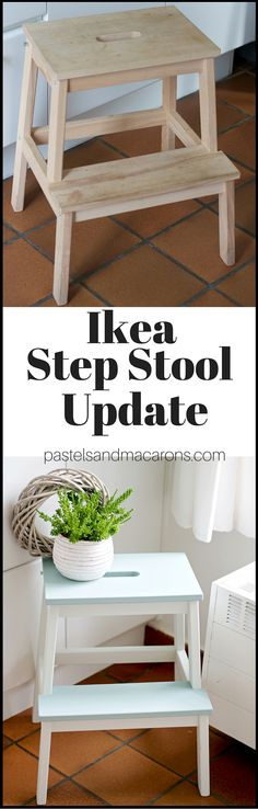 Easy and quick Ikea Step Stool Makeover. I love the finish and the best thing about this makeover is that my step stool doesn't grab onto to…