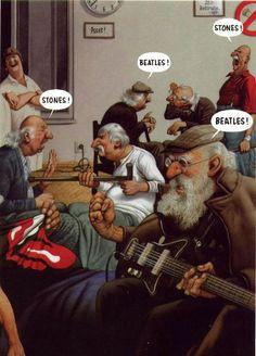 Da sag noch einer, im Altersheim würde nur Volksmusik gehört…