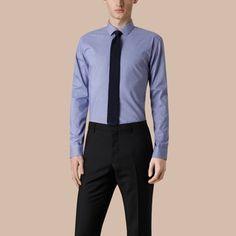 baf370c9b2a2 BURBERRY Modern Fit Gingham Cotton Poplin Shirt.  burberry  cloth