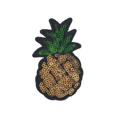 Pineapple patch, Iron on, Sequin patch, Flair, Pin game strong, lapel pin, enamel pin, custom jacket, fall jean jacket, pin collection