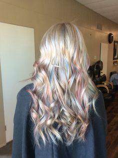 Opal hair color by Jenna Kamin @ Ambrosis Salon ~Ottawa, IL