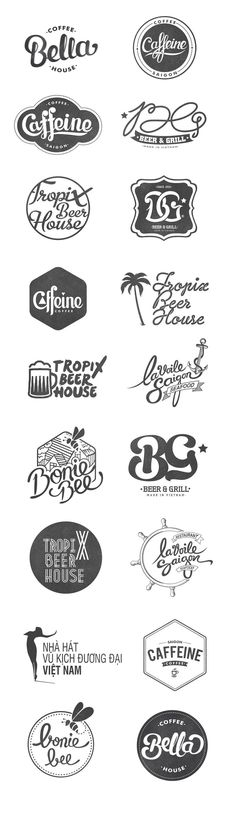 Curated By Transition Marketing Services, Canada / Okanagan Small Business Branding & Marketing Solutions Logo Inspiration, Logo Restaurant, Typo Logo, Logo Branding, Business Branding, Business Logo Design, Lettering, Logos Online, Cheap Logo