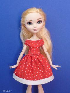 Dress for Ever After High doll por Kosucas en Etsy