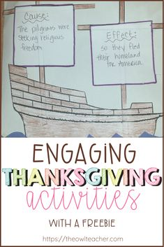 Engage your students this Thanksgiving holiday with these fun activities while practicing cause and effect! Social Studies Curriculum, Social Studies Activities, Teaching Social Studies, Teaching Writing, Teaching Science, Fun Activities, Upper Elementary Resources, Free Teaching Resources, Teaching Tips